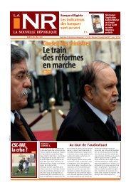 Le train des réformes en marche - La Nouvelle République