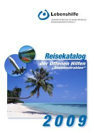 Der neue Reisekatalog 2009 ist da... - Lebenshilfe Potsdam ...