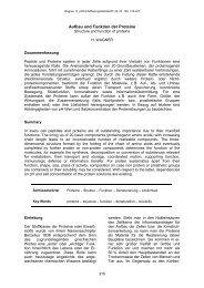 Aufbau und Funktion der Proteine