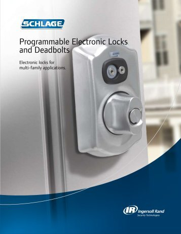Schlage Programmable Electronic Locks & Deadbolts - Builders ...