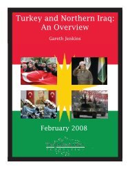 Turkey and Northern Iraq: An Overview - The Jamestown Foundation