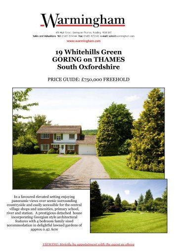19 Whitehills Green GORING on THAMES South ... - Warmingham