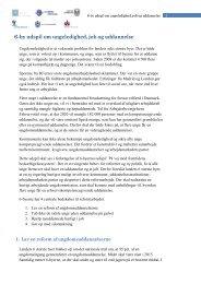 6-by udspil om ungeledighed, job og uddannelse - Aarhus.dk