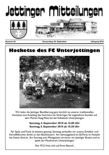 Hocketse des FC Unterjettingen