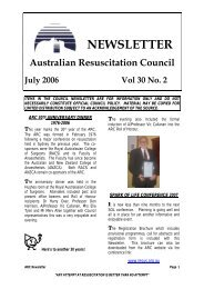 July 2006 - Australian Resuscitation Council