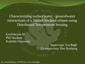 Characterizing surface water - groundwater interactions of a ...