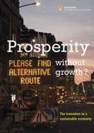 Prosperity without Growth - Sustainable Development Commission