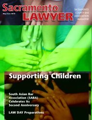May / June 2010 - Sacramento County Bar Association