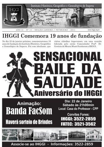 Informativo IHGGI - Edição Nº 11 - IHGGI - Instituto Histórico ...