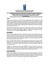 Informasi Proyek Hibah Mini Livelihoods - UNDP