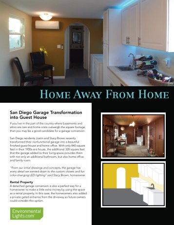 Project Spotlight: Home Away From Home - LED Lighting