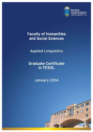 Graduate Certificate in TESOL - Bond University