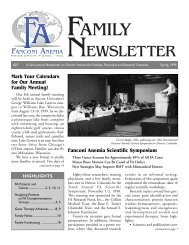 Family Newsletter #25 - Fanconi Anemia Research Fund