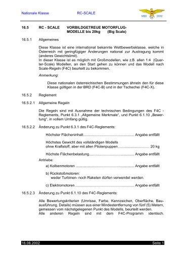 Nationale Klasse RC-SCALE 16.08.2002 Seite 1 16.5 RC ... - lexSOFT