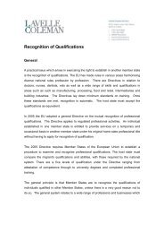 Recognition of Qualifications - Lavelle Coleman