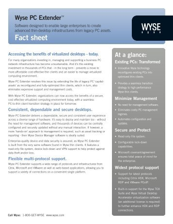 Download Datasheet - Wyse Technology
