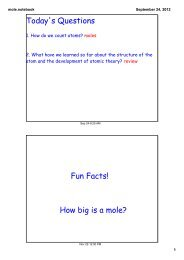 Worksheet: Mole Problems