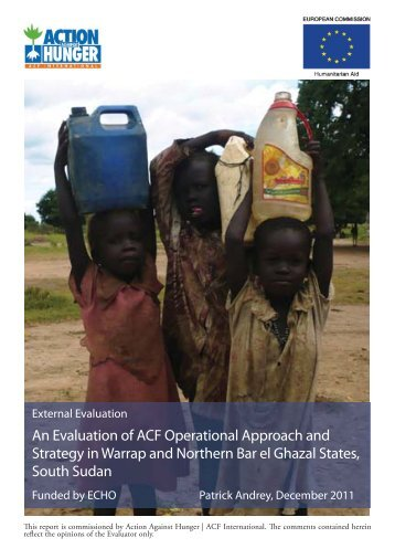 South Sudan Evaluation Cover.indd - Action Against Hunger