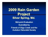 lessons learned report of Rainscapes installations done in the ...