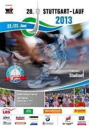 Informationsflyer 2013 - Stuttgart-Lauf