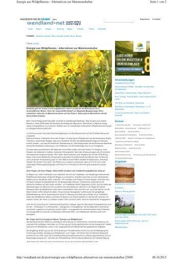 Seite 1 von 2 Energie aus Wildpflanzen - Alternativen zur ...