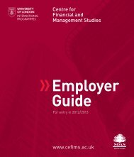 Employer Guide - Centre for Financial & Management Studies