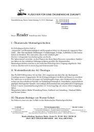 I: Ökumenische Mutmachgeschichten II ... - PLÄDOYER