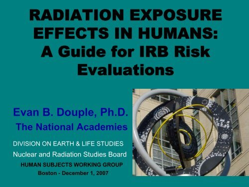 Radiation Exposure Effects in Humans - Department of Energy ...