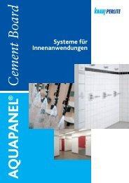 AQUAPANEL2 Cement Board Indoor - Knauf Perlite