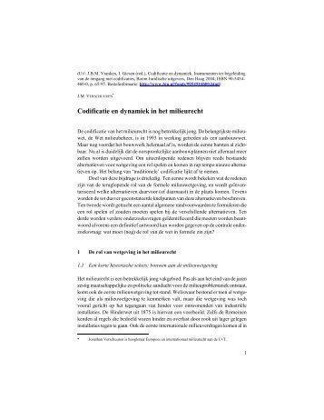 Codificatie en dynamiek in het milieurecht - Portill.nl