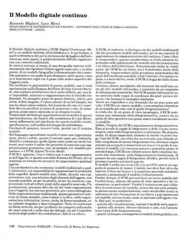 Il Modello digitale continuo - Riccardo Migliari