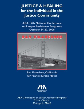 19th National Conference on Lawyer Assistance Programs, October ...