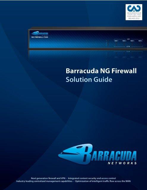 Barracuda NG Firewall Solution Guide