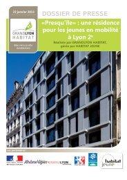 Télécharger le dossier de presse - Grand Lyon Habitat