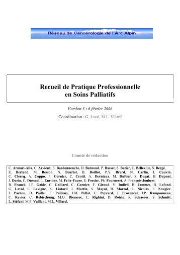 Référentiel soins palliatifs - Centre Hospitalier - Rodez