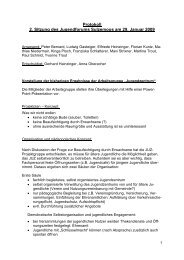 Protokoll 2. Sitzung des Jugendforums Sulzemoos am 29. Januar 2009