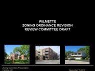 Camiros Presentation 11-15-2012 - Village of Wilmette