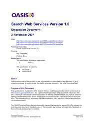 OASIS Specification Template - docs oasis open - Oasis