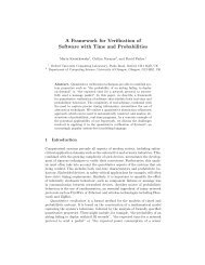 A Framework for Verification of Software with Time and Probabilities
