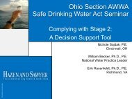 Complying With Stage 2 D/DBP Regulation - Ohiowater.org