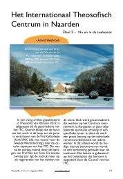 Het Internationaal Theosofisch Centrum in Naarden, Deel 2 – Nu en ...
