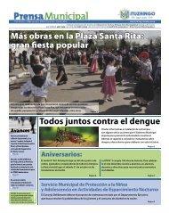 Más obras en la Plaza Santa Rita: gran fiesta popular ... - Ituzaingó