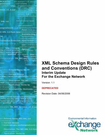 EN XML Schema Design Rules v1.1 - The Exchange Network