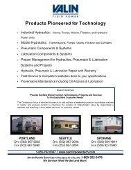 services line card - Pacific PowerTech, LLC