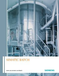 SIMATIC BATCH - Siemens Industry, Inc.