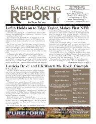 Latricia Duke and LK Watch Me Rock Triumph - Barrel Racing Report
