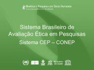 Sistema Brasileiro de Avaliação Ética em Pesquisas - Anis