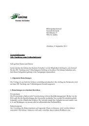 XII. Nachtrag zum Volksschulgesetz - Grüne Kanton St. Gallen