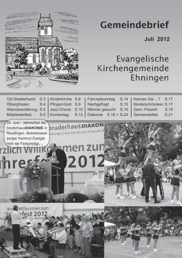 Juli 2012 - Kirchen im Kreis Böblingen