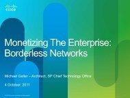 Monetizing The Enterprise - Cisco Knowledge Network